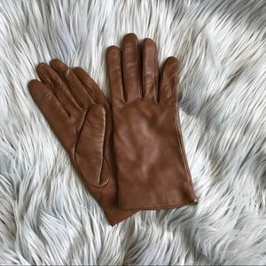 Genuine Leather Gloves (cashmere lined)